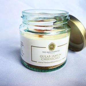 Gulab Jamun Cheesecake in a Jar